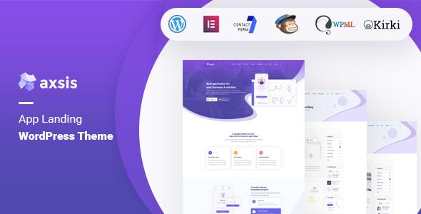 Download axsis – App Landing WordPress Theme Free Nulled