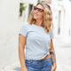 Place it - Young women wearing t-shirt and jeans - PhotoDune Item for Sale