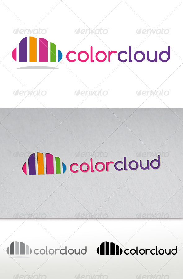 Color Cloud Logo - Vector Abstract