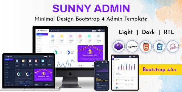 Super Sunny Bootstrap Admin Dashboard HTML Template