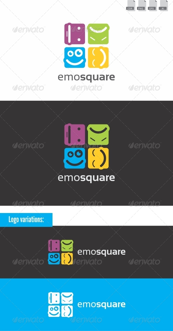 Emosquare - Humans Logo Templates