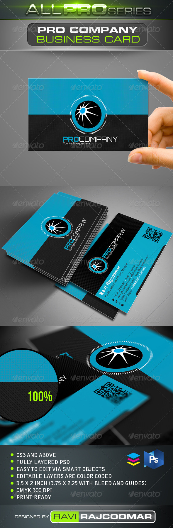 Pro Company Business Card - Corporate Business Cards