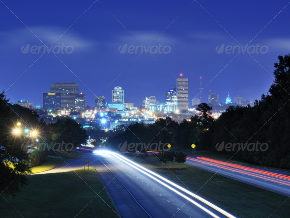 Columbia, South Carolina Skyline - Stock Photo - Images