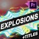 Explosion Elements And Titles | Premiere Pro MOGRT - VideoHive Item for Sale
