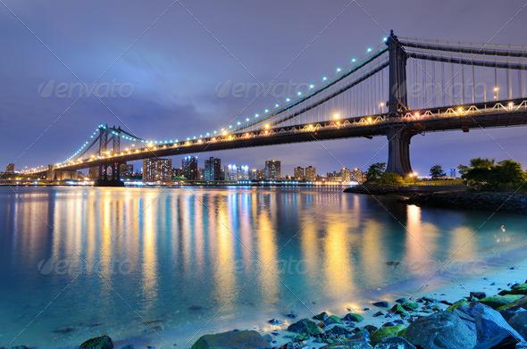 Manhattan Bridge Bridge - Stock Photo - Images