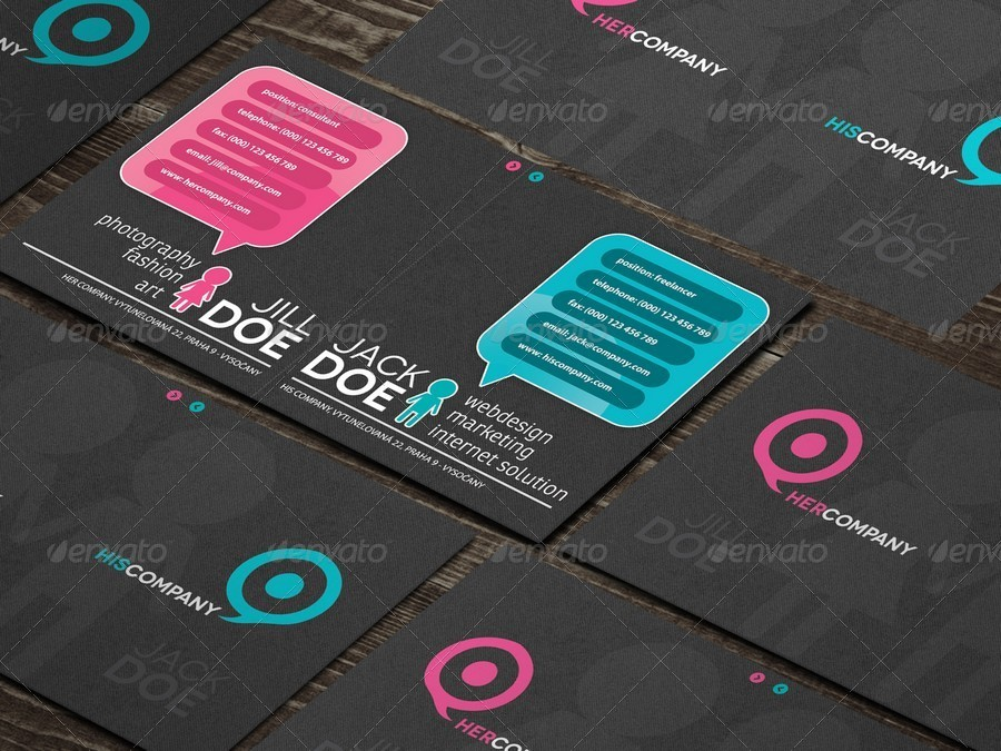 Not Only Couple Original Business Card by Hetch | GraphicRiver