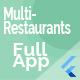 Food Delivery Flutter App + PHP Laravel Admin Panel
