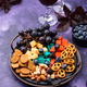Halloween appetizers. Cheese plate with snacks - PhotoDune Item for Sale