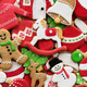 Decorated Christmas cookie background - PhotoDune Item for Sale