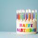 Colorful rainbow happy birthday cake - PhotoDune Item for Sale