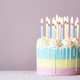Pastel birthday cake with birthday candles - PhotoDune Item for Sale