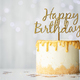 Golden birthday cake - PhotoDune Item for Sale
