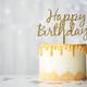 Golden birthday cake - PhotoDune Item for Sale