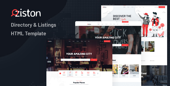 Fabulous Ziston - Directory & Listings HTML Template