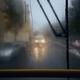Traffic in city street during heavy rain - PhotoDune Item for Sale