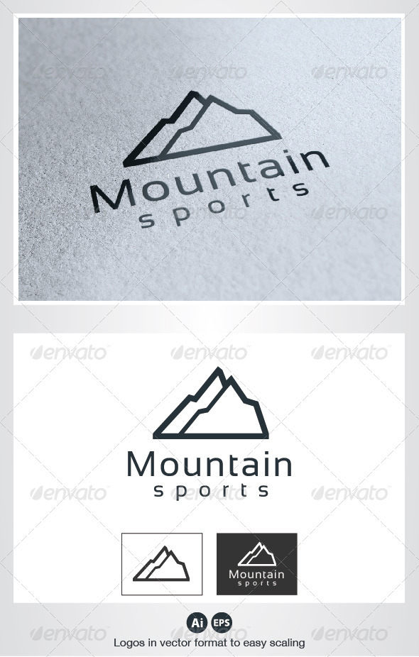 Mountain Sports Logo - Nature Logo Templates