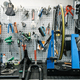 Bicycle workshop interior, tools on the wall - PhotoDune Item for Sale