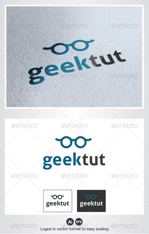 Geek Glasses Logo - Symbols Logo Templates