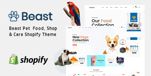 Pet Shop Shopify Theme - Beast