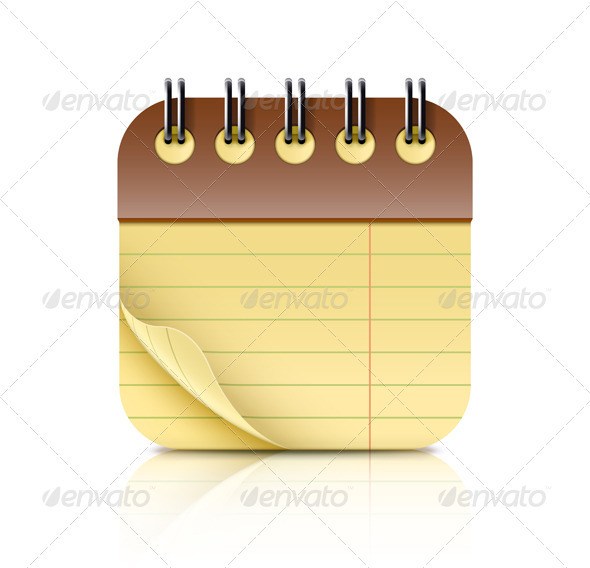 Bound notebook icon - Objects Vectors