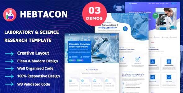 Hebtacon - Science Research & Laboratory Template