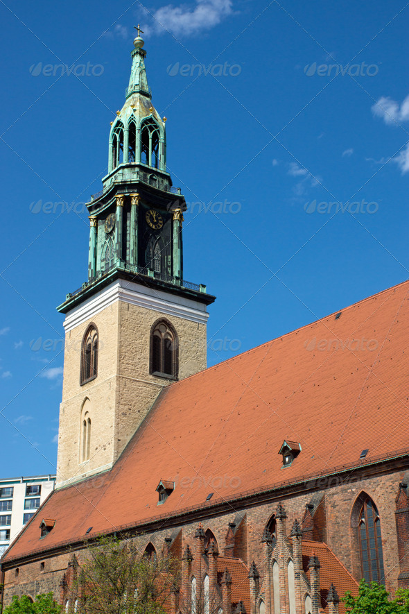 The Marienkirche in Berlin - Stock Photo - Images