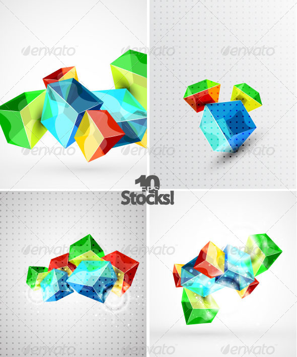 Vector Cubes Backgrounds - Backgrounds Decorative
