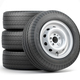 Set of car wheels with tyres for vans and trucks isolated on white background. - PhotoDune Item for Sale