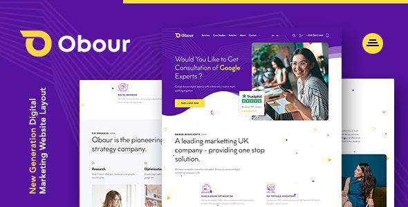 Obour | New Age Digital Marketing Agency Joomla Template
