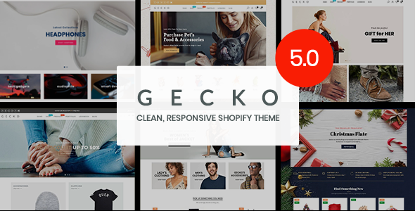 Gecko 5.0 - Responsive Shopify Theme - RTL support