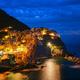 Manarola village n the night, Cinque Terre, Liguria, Italy - PhotoDune Item for Sale