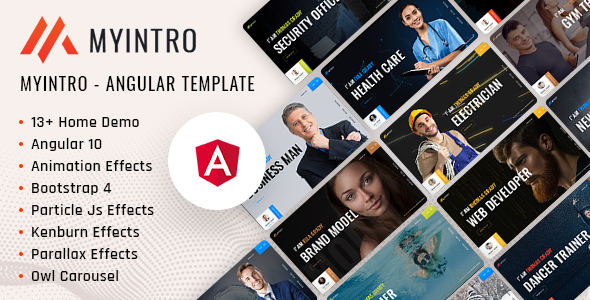 MyIntro | Resume CV Portfolio Angular Template
