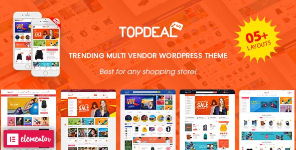 TopDeal - Multi Vendor Marketplace Elementor WooCommerce WordPress Theme (Mobile Layouts Ready)