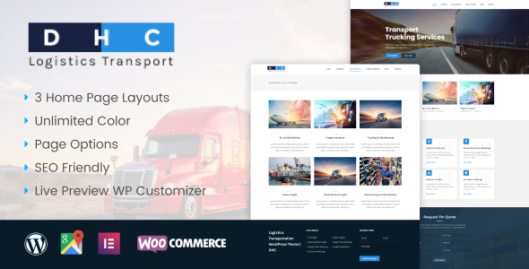 DHC | Logistics Transportation WordPress Theme