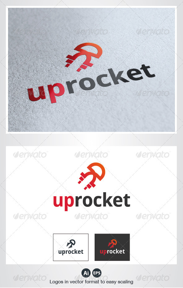 UP Rocket Logo - Vector Abstract