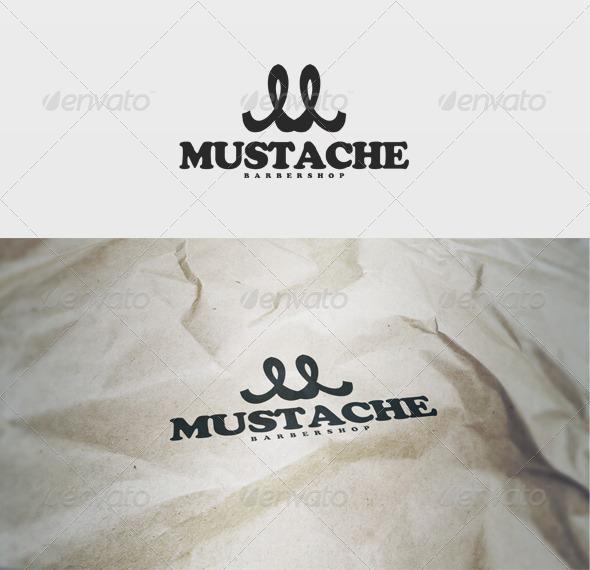 Mustache Logo - Letters Logo Templates