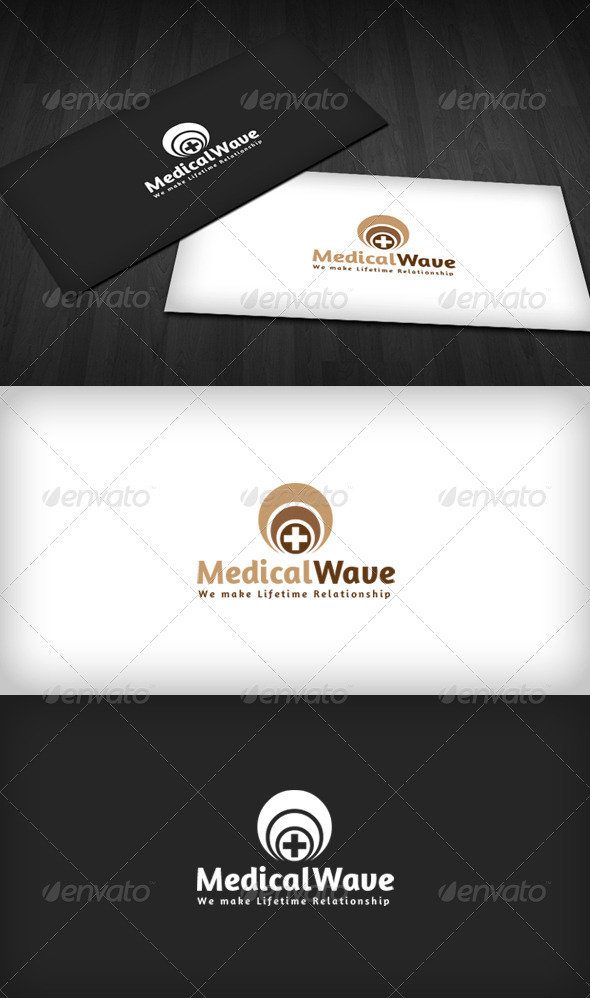 Medical Wave Logo - Vector Abstract