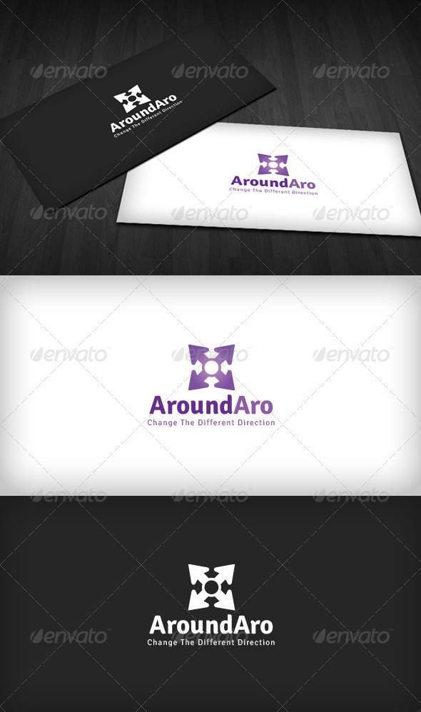 Around Arrow Logo - Vector Abstract