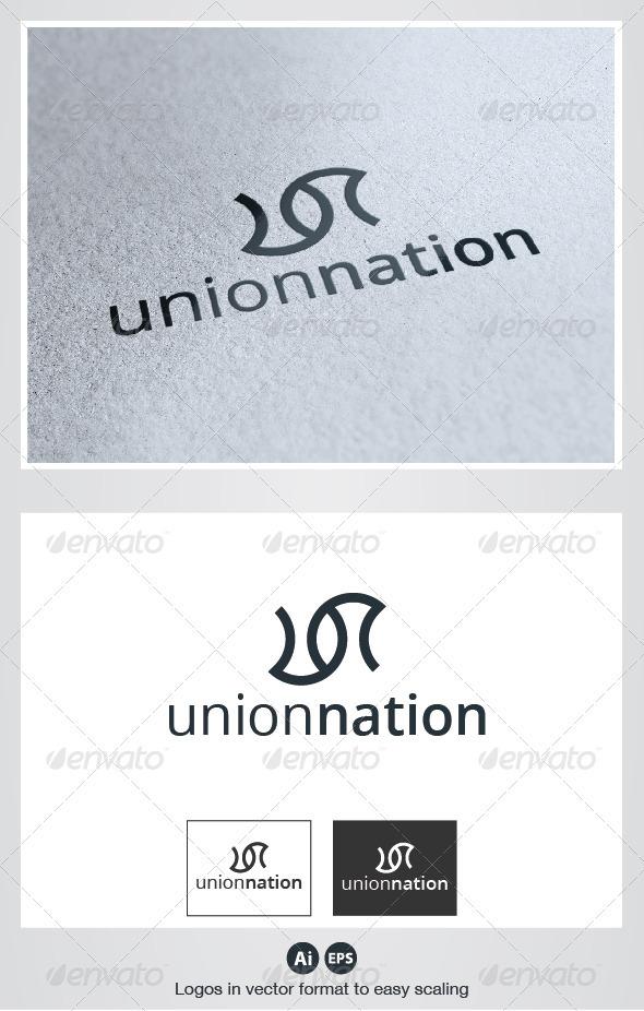 Union Nation Logo - Letters Logo Templates