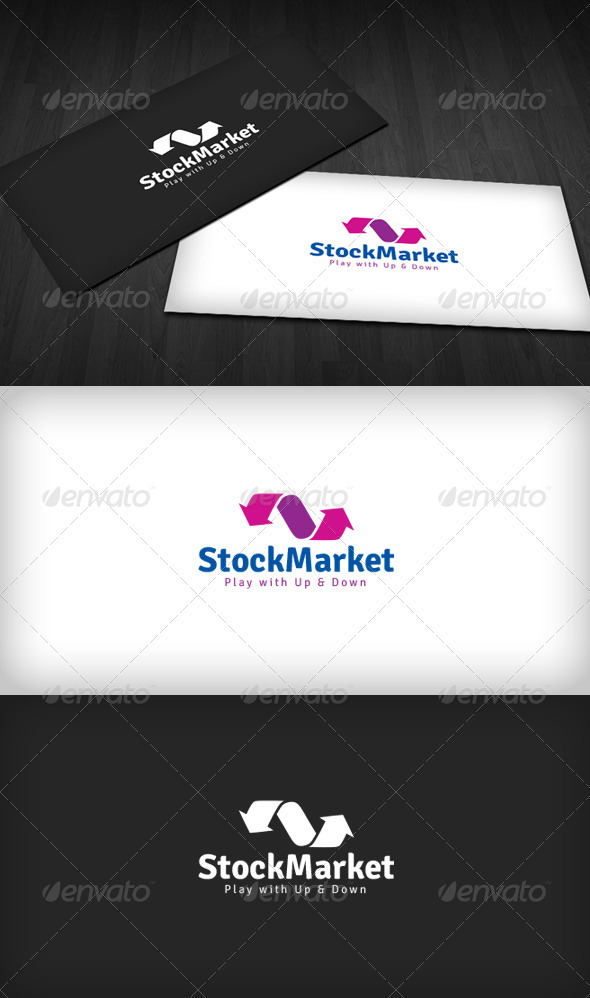 Stock Market Logo - Vector Abstract