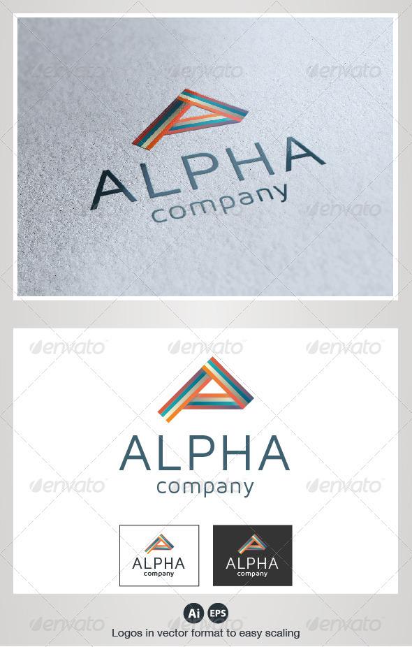 Alpha A Letter Logo - Letters Logo Templates