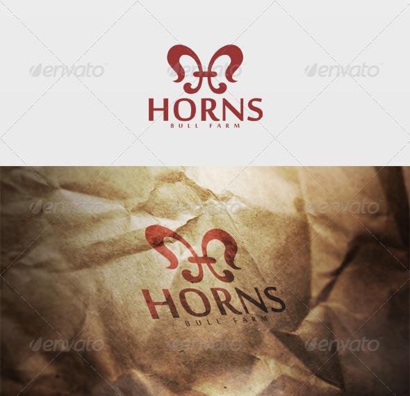 Horns Logo - Letters Logo Templates