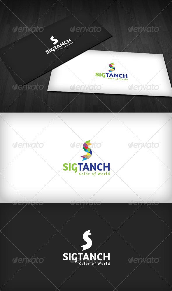 Color S Letter Logo - Letters Logo Templates