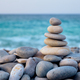 Zen balanced stones stack on beach - PhotoDune Item for Sale