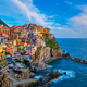 Manarola village on sunset, Cinque Terre, Liguria, Italy - PhotoDune Item for Sale