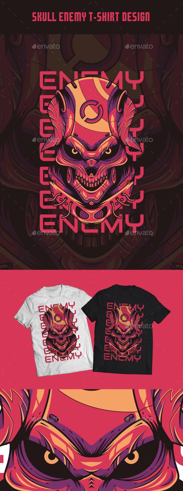 Skull Enemy T-Shirt Design
