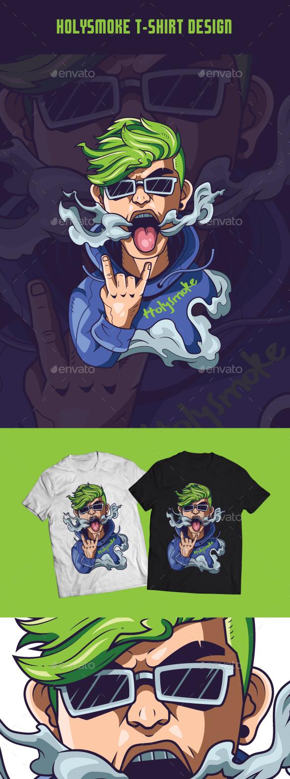 Holysmoke T-Shirt Design