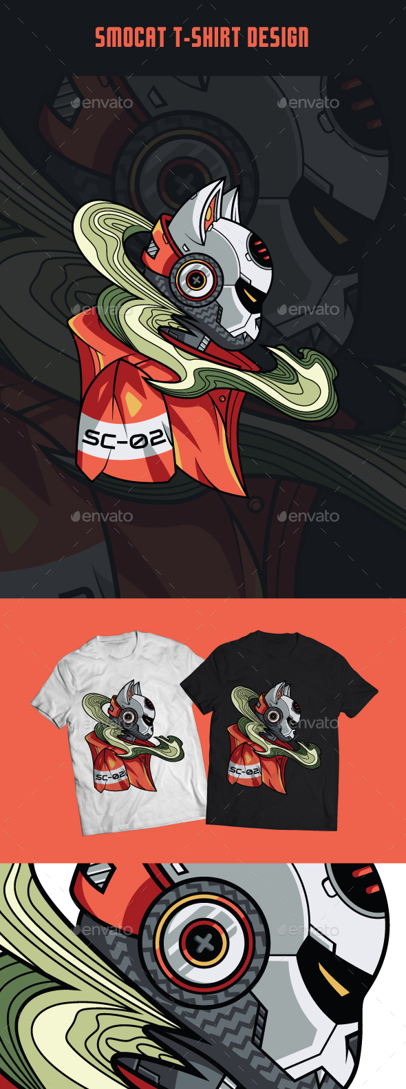 Smocat T-Shirt Design