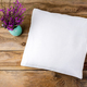 Pillow mockup with purple wildflowers - PhotoDune Item for Sale