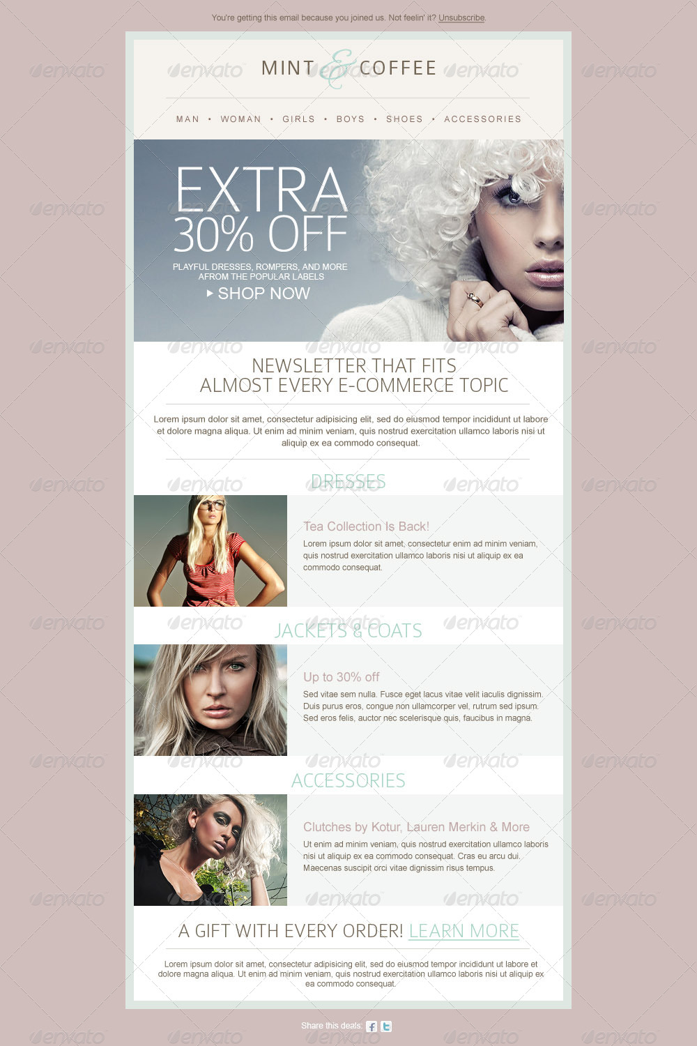 fashion ecommerce email newsletter template by mariarti graphicriver